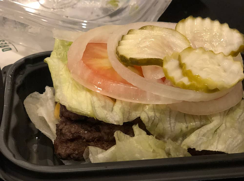 Wendy's Keto Burger