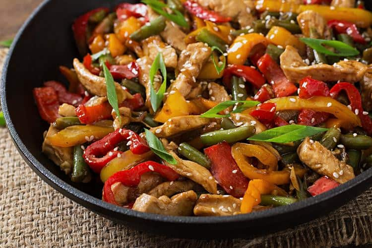asian food low carb keto diet chicken stir fry
