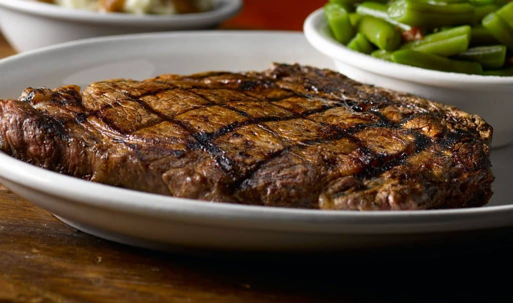 texas roadhouse ft-worth-ribeye low carb entrees steak