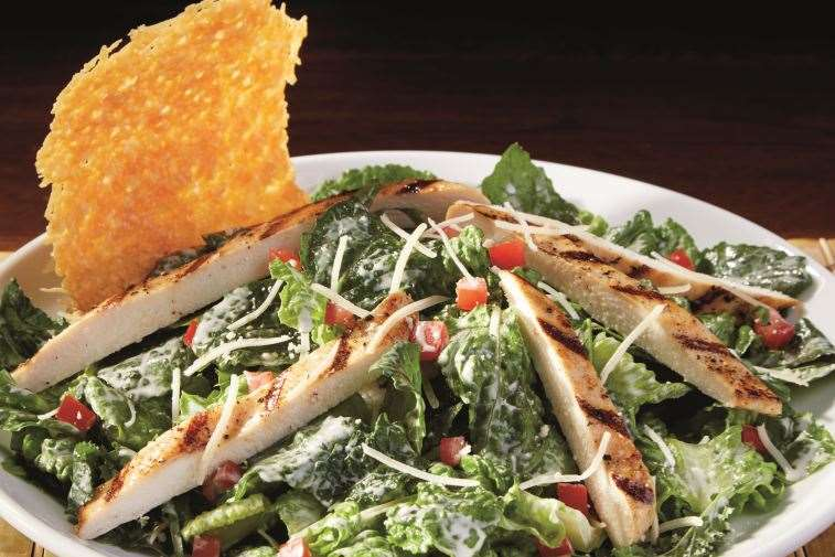dave and busters eat your greens kale chicken caesar salad low carb keto compatible