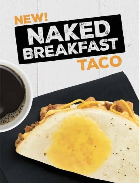 naked breakfast taco taco bell for low carb dieters keto eaters